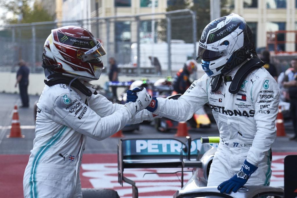 Formula One - Mercedes-AMG Petronas Motorsport, Azerbaijan GP 2019. Lewis Hamilton, Valtteri Bottas