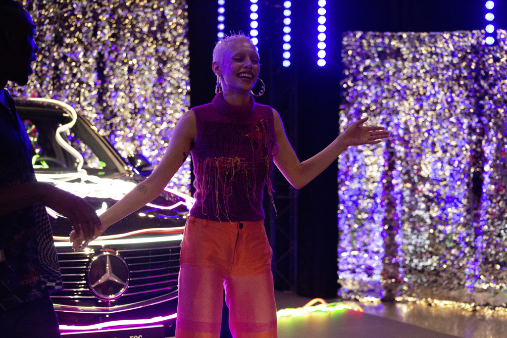 Jazzelle Zanaughtti has kick-started Mercedes-Benz' latest How To fashion story with an interactive event in Oslo.