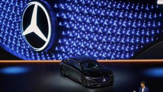 Mercedes-Benz Vision EQS electric automobile at the IAA Frankfurt Motor Show