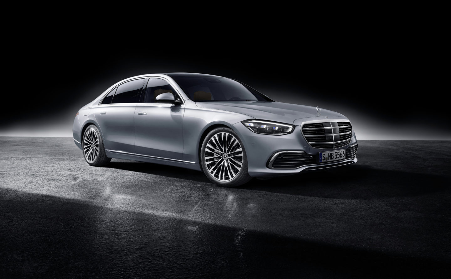 Mercedes-Benz S-Class, 2020, studio shot, exterior: hightech silver