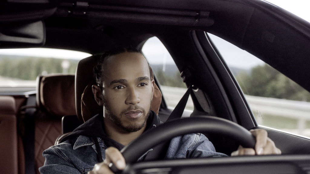 Lewis Hamilton with the new S-Class