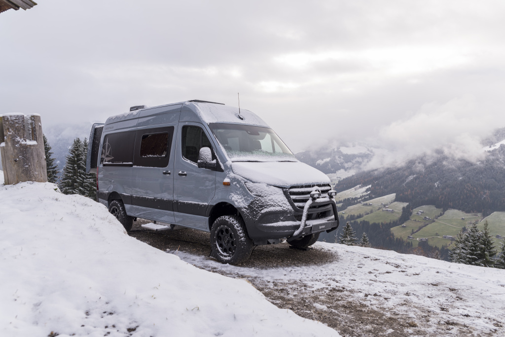 Motorhomes based on the Mercedes-Benz Sprinter – in the picture: James Cook from Westfalia with Mercedes-Benz Advanced Control, MBAC (Prototype)