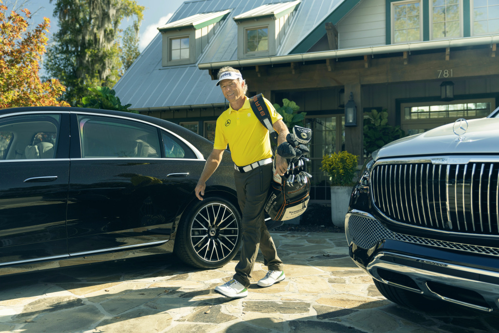 The 2020 Masters Tournament. Mercedes-Benz Brand Ambassador Bernhard Langer with the S-Class and the Mercedes-Maybach GLS 600 4MATIC (combined fuel consumption: 12.0 l/100 km; combined CO2 emissions: 275 g/km)