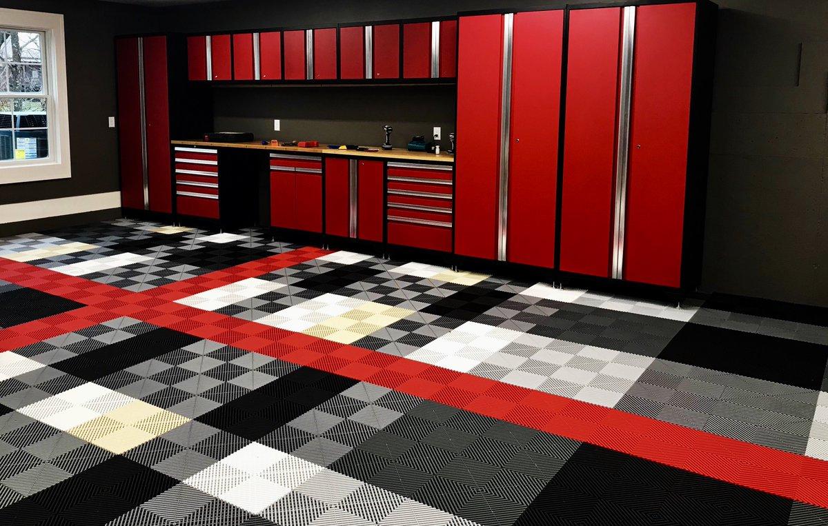Swisstrax Ribtrax Pro Flooring Red and Black