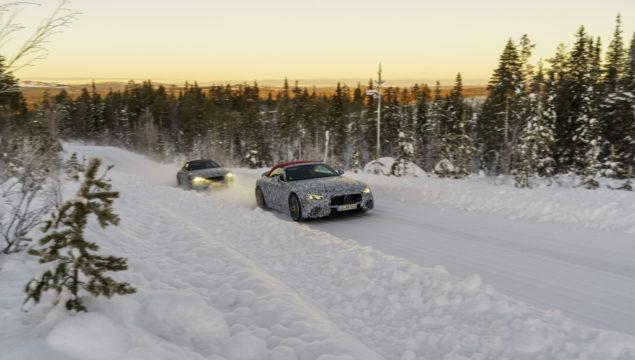 Final Winter Development Drive for the Mercedes-AMG SL