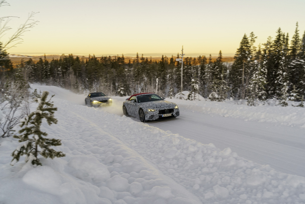 Final Winter Development Drive for the Mercedes-AMG SL