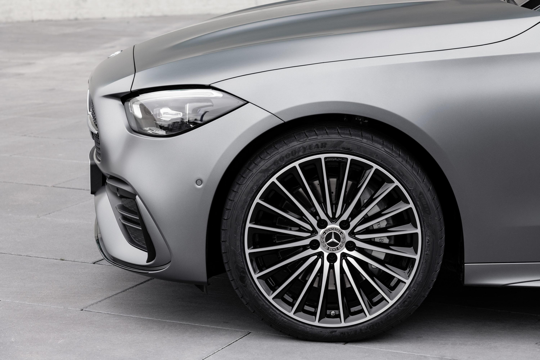 Mercedes-Benz C-Class, 2021, selenite grey magno, siena brown/black leather