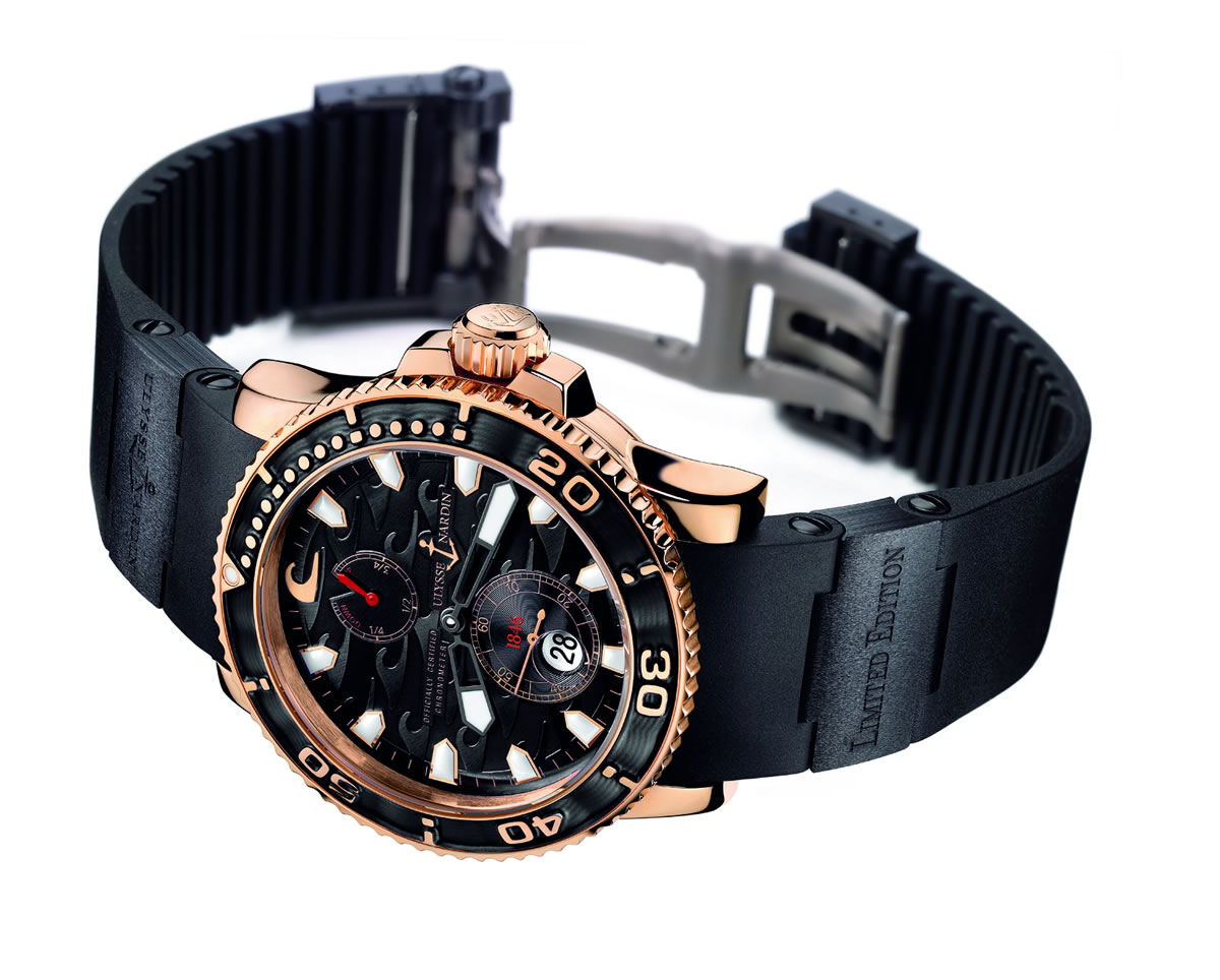 Ulysse Nardin Black Surf Watch