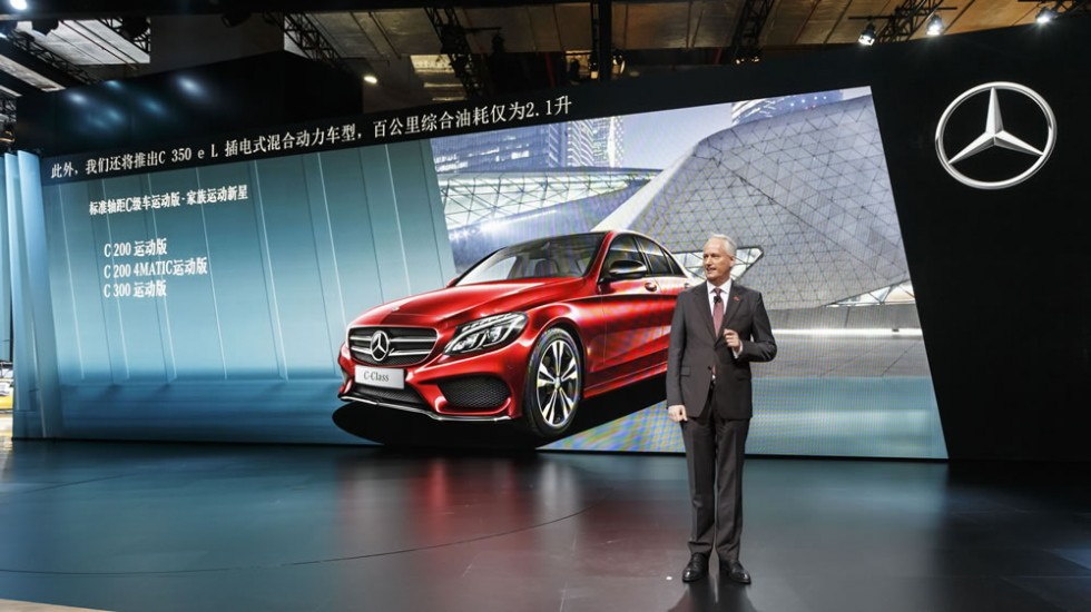 Mercedes-Benz and smart at the Auto Shanghai 2015: Hubertus Troska, Member of the Board of Daimler AG, responsible for Greater China, at the Mercedes-Benz and smart press conference in Shanghai.