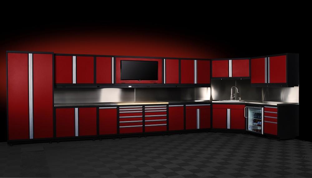 Baldheaded Cabinet Company Red Garage