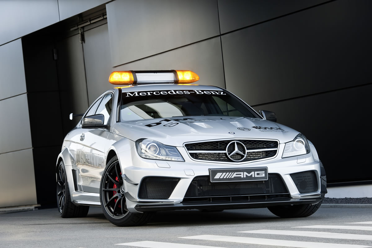 2013 Mercedes C63 AMG Coupe Black Series safety car
