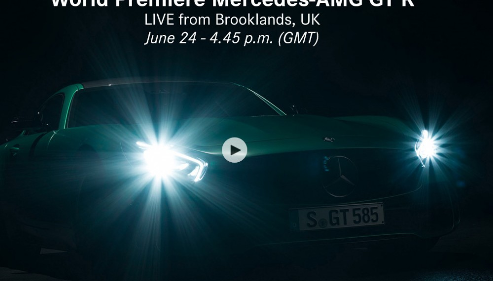 Live stream: World Premiere Mercedes-AMG GT R