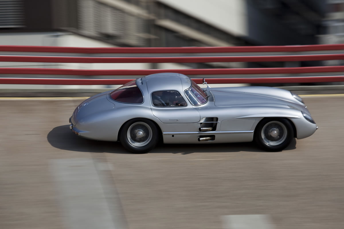 Mercedes-Benz 300 SLR and SLS AMG GT Going to Goodwood 2013