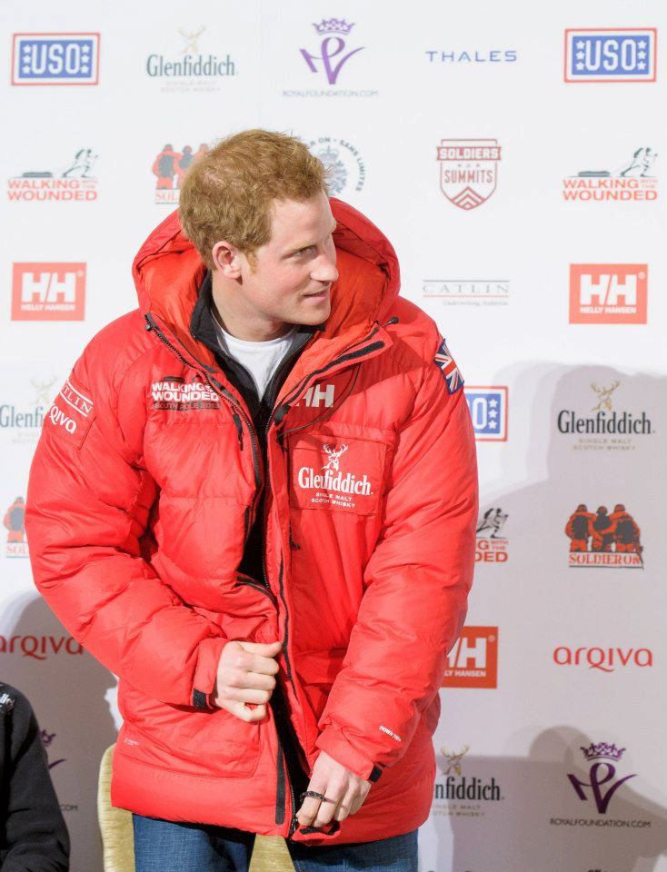 Walking with the Wounded Helly Hansen Prince Harry 2013