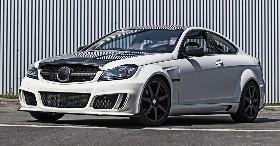 mercedes c class coupe with wide body kit by mansory. Black Bedroom Furniture Sets. Home Design Ideas