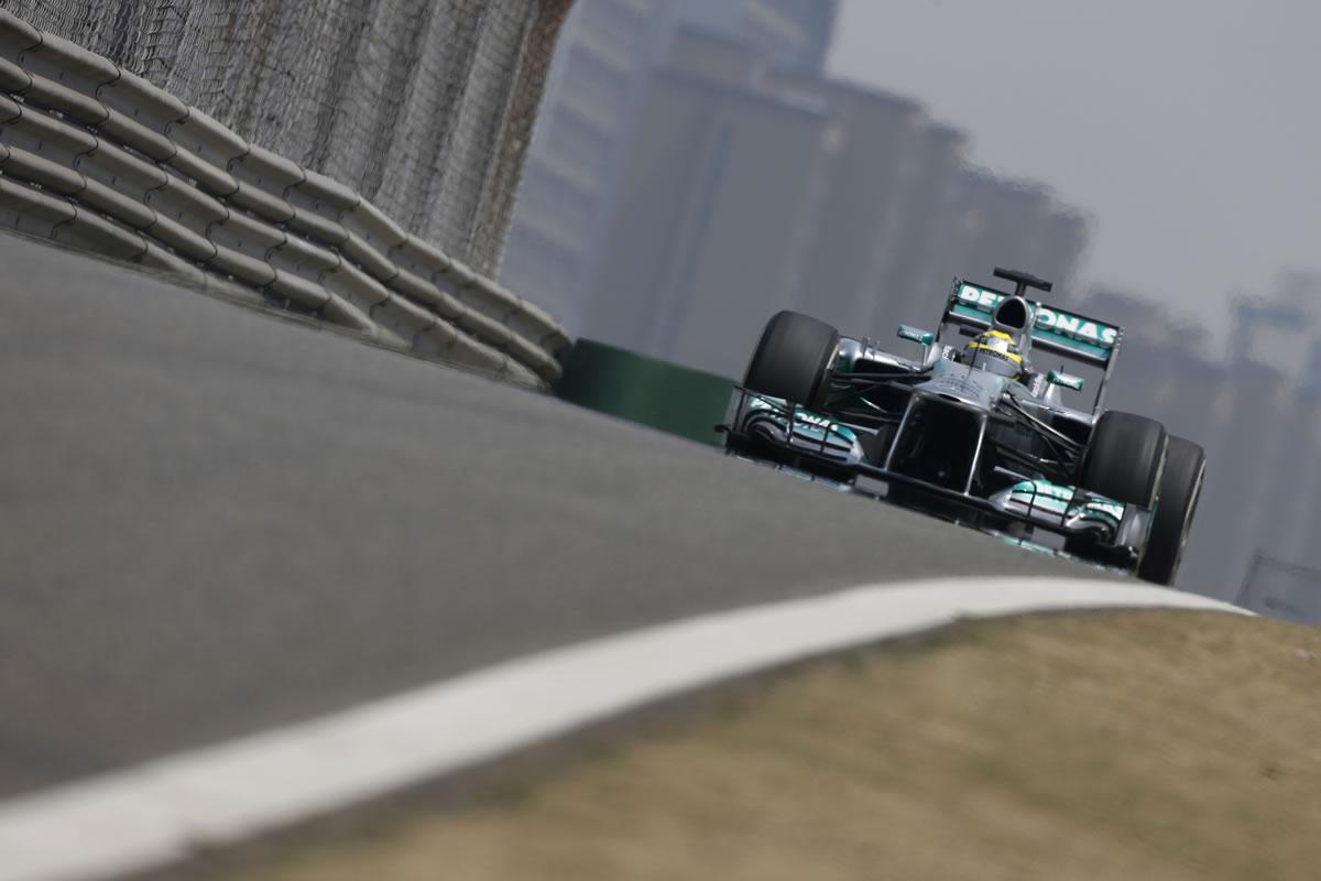 Mercedes AMG Petronas' Lewis Hamilton Gets Podium Finish in China