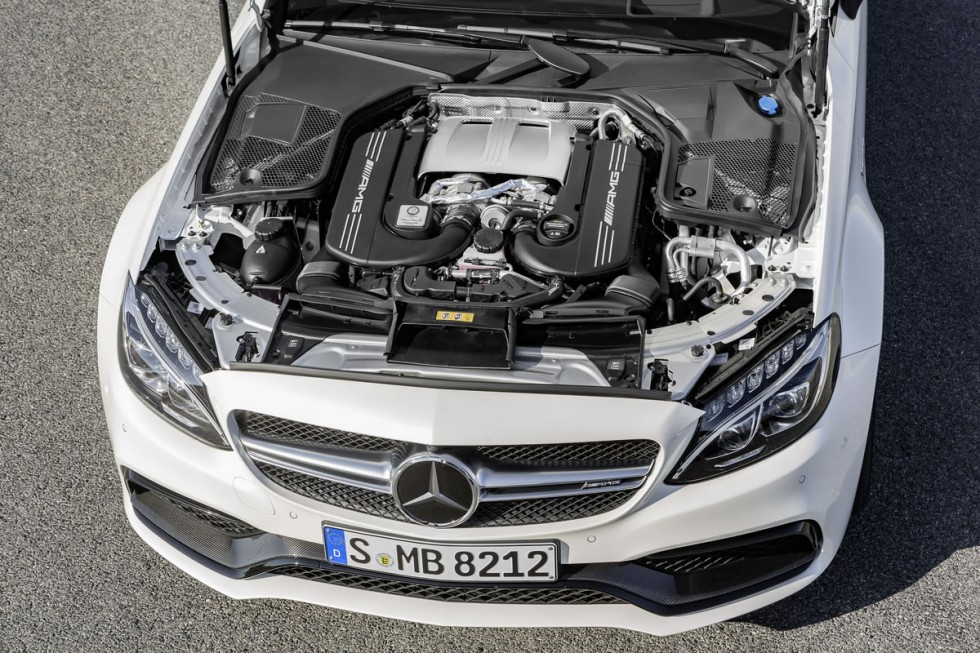 2017 Mercedes-AMG C63 Coupe 4.0-liter 8-cylinder biturbo engine