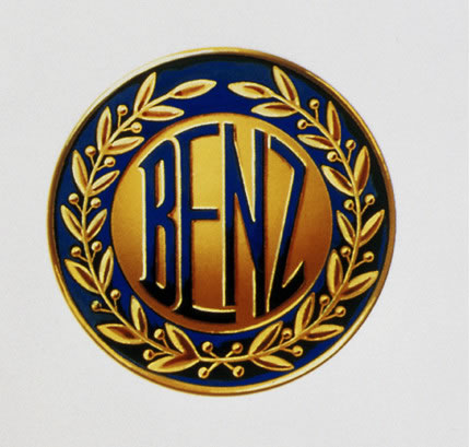 Mannheim – home of winners: Benz logo with laurel wreath, registered as trademark on 6 August 1909
