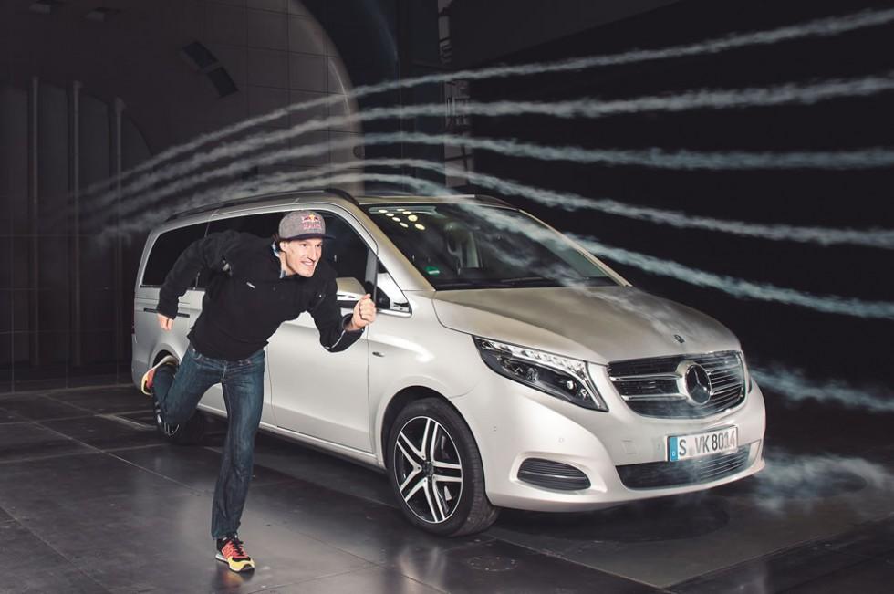 Sebastian Kienle with Mercedes-Benz in Wind Tunnel