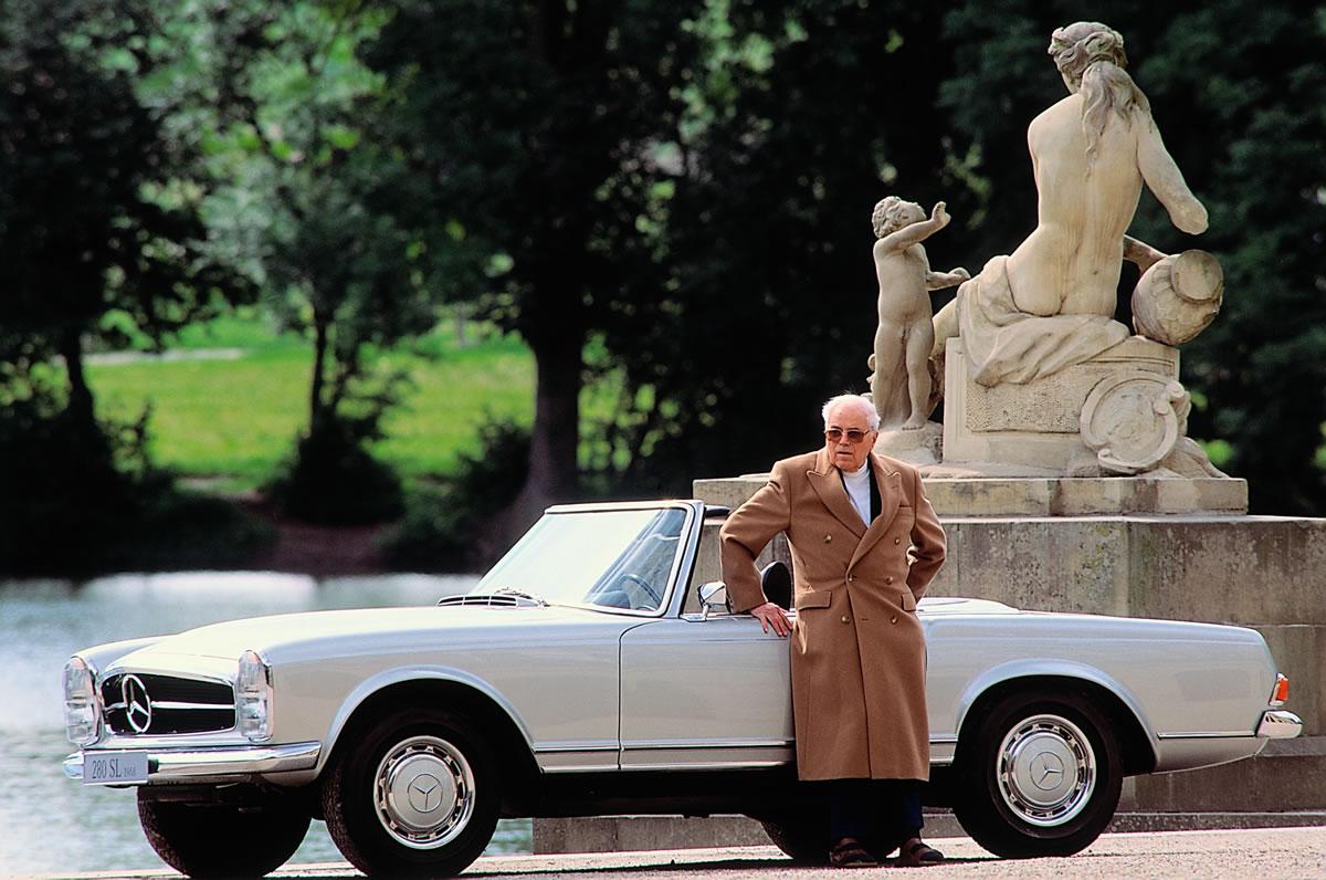 Mercedes-Benz 280 SL (W 113 series, 1963 to 1971), 1967 to 1971. Béla Barényi