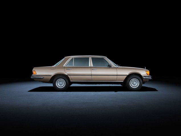 Mercedes-Benz S-Class 116 series (1972 to 1980). The 450 SEL 6.9 model in the photo dates from 1980
