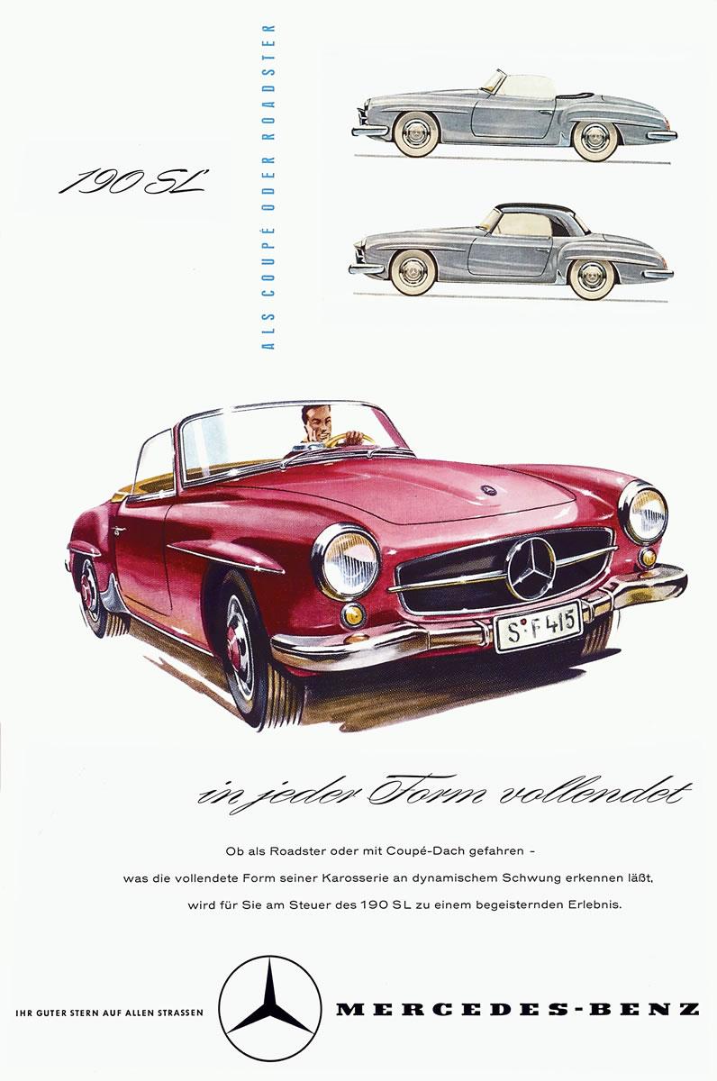 Mercedes Benz Sl Advertising History Emercedesbenz