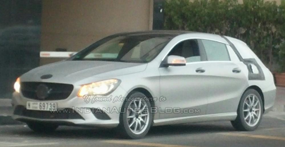 Mercedes CLA Shooting Brake Spied in Dubai
