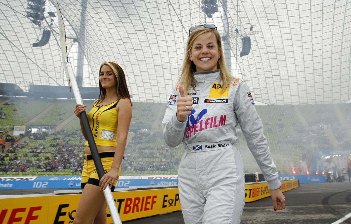 DTM, Munich, Olympic Stadium, Show event, 13 - 15 July 2012. Susie Wolff, TV Spielfilm Mercedes AMG C-Coupé