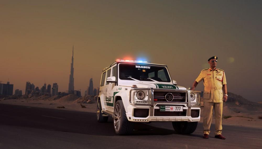 Mercedes G63 AMG by Brabus Dubai Police