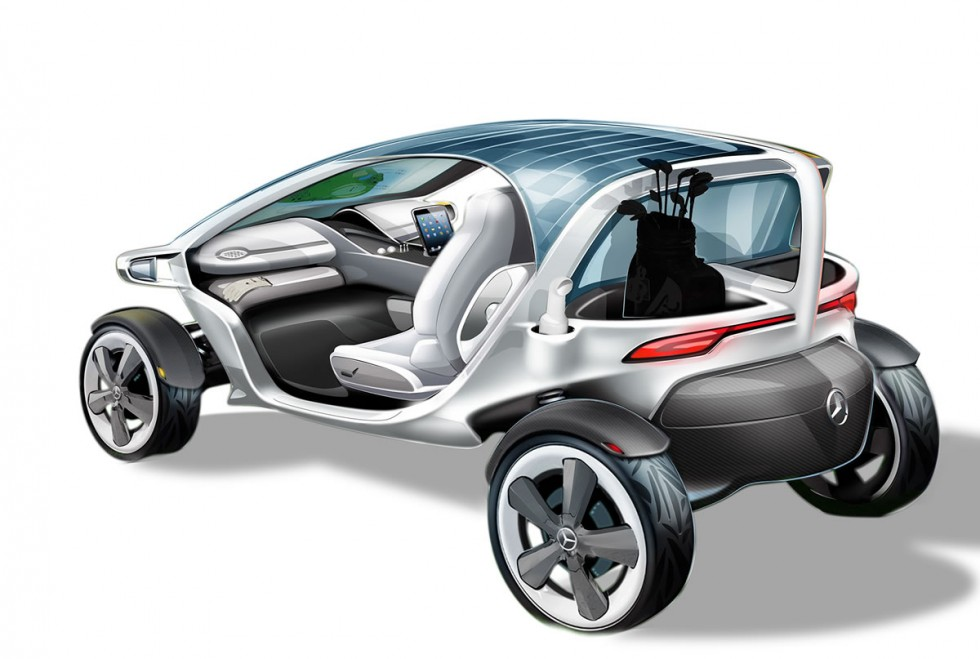 Mercedes-Benz Vision Golf Cart: Mercedes-Benz designs visionary golf cart