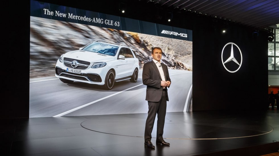 Tobias Moers, CEO of Mercedes-AMG, at the world premiere of the new Mercedes-Benz GLE.