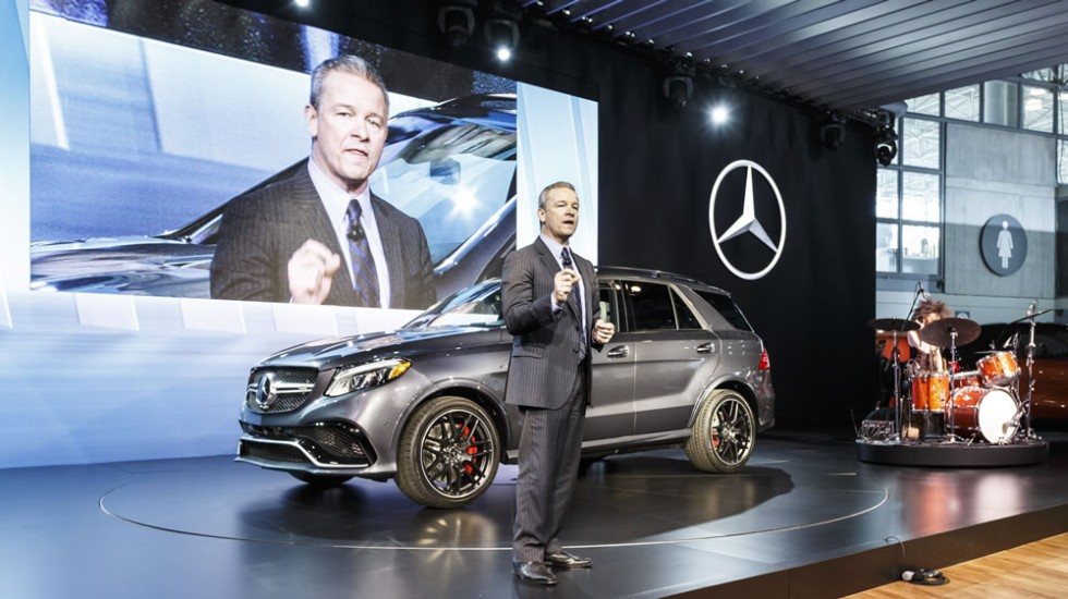 Stephen Cannon, President and CEO of Mercedes-Benz USA, at the world premiere of the new Mercedes-Benz GLE.