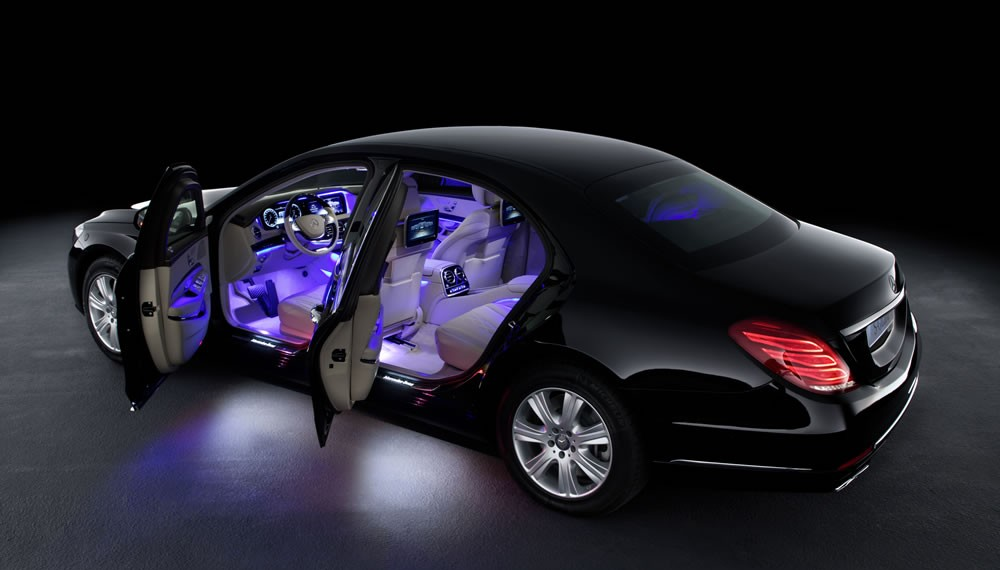 View of the interior with ambient lighting