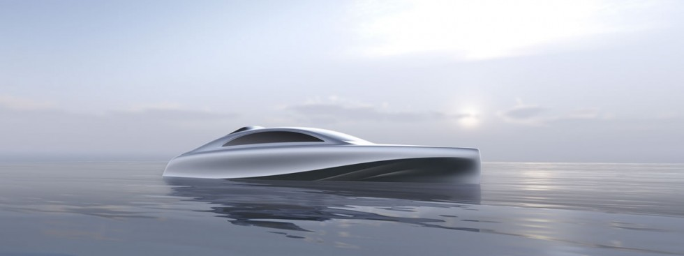 """Mercedes-Benz Style and Silver Arrow Marines present a model of the first """"Silver Arrow"""" motor yacht"""