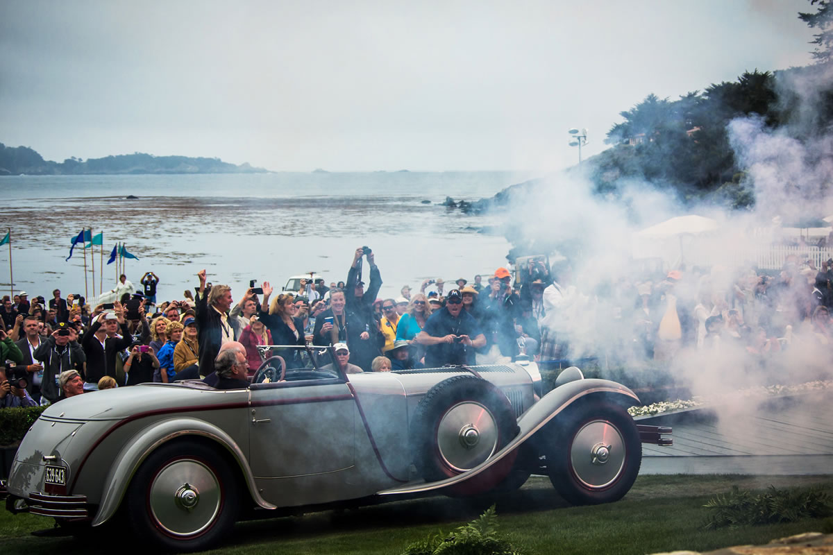 """Best of Show"""" at the Pebble Beach Concours d'Elegance 2012: Mercedes-Benz Type S with Saoutchik bodywork, built in 1928. Because of its 6.8-litre engine capacity, the car was also known as Type 680 S"""