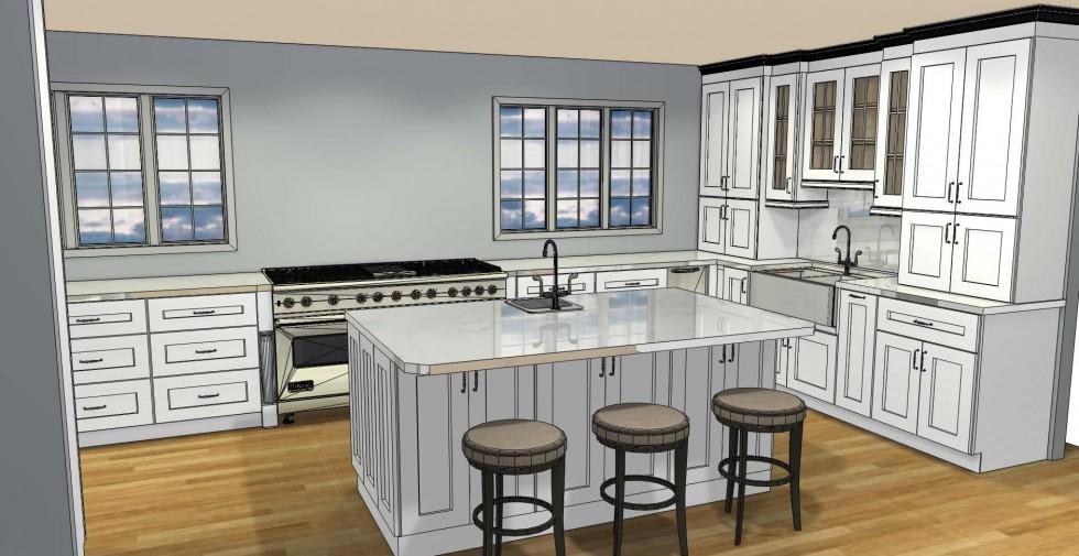 All Wood Cabinet Design