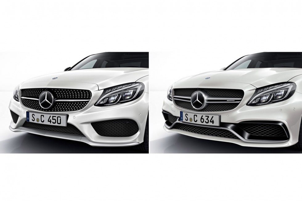 Mercedes-AMG 2014:AMG sports model (left), AMG Performace model (right)