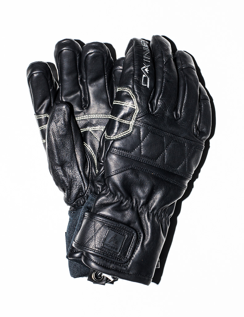 Dakine Black Leather Gloves