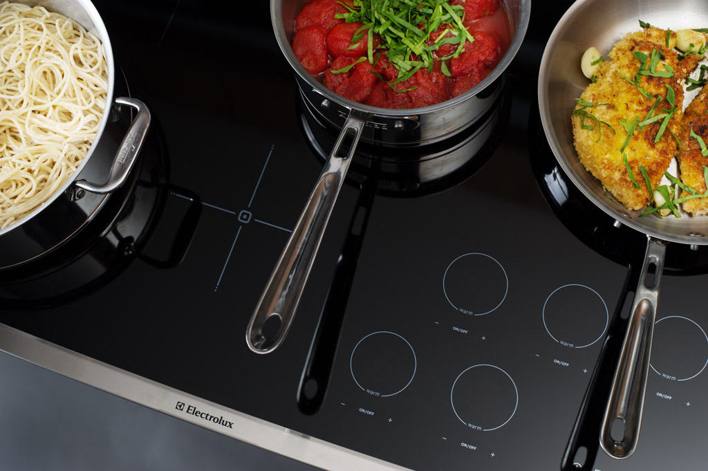"Electrolux 36"" Induction Cooktop controls"