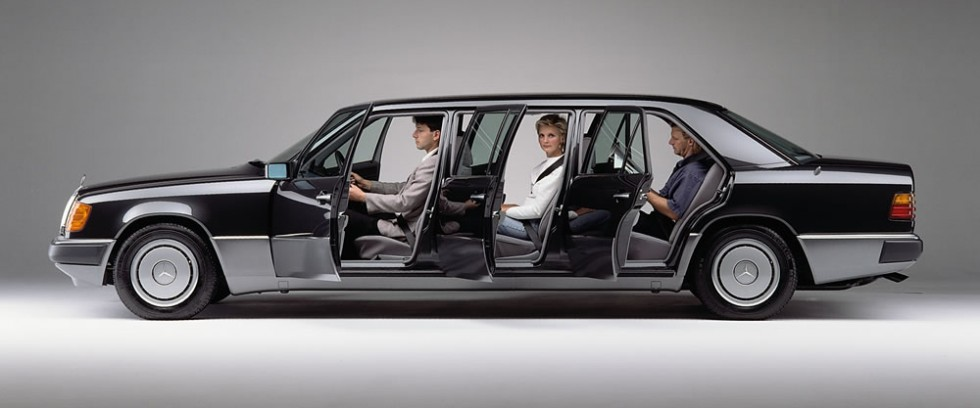 Mercedes-Benz limousine of the 124 series, long version.