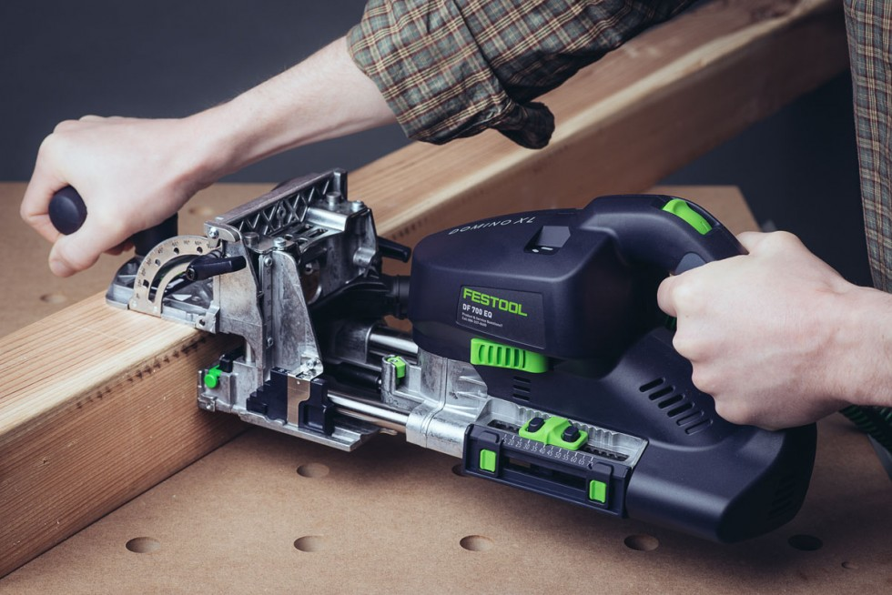 Festool Domino XLcutting Domino mortise