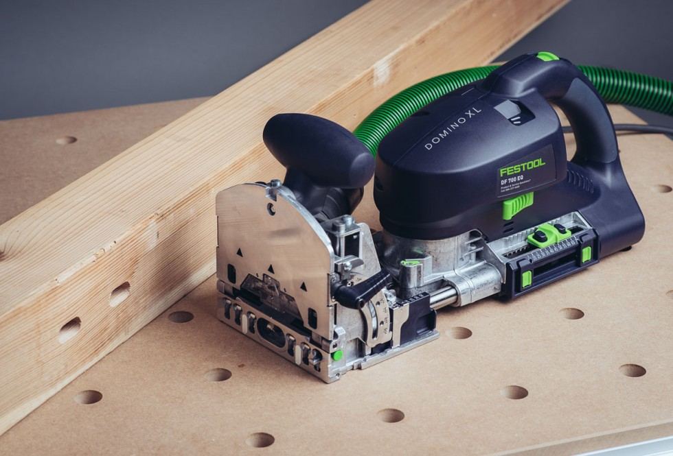 Festool Domino XL with Domino mortises