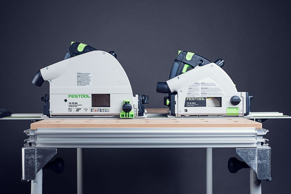 Festool TS55 and TS75 Side Comparison