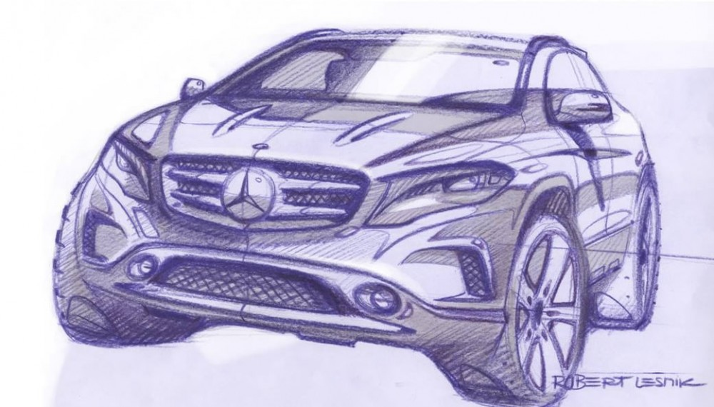 Mercedes GLA Sketches Revealed