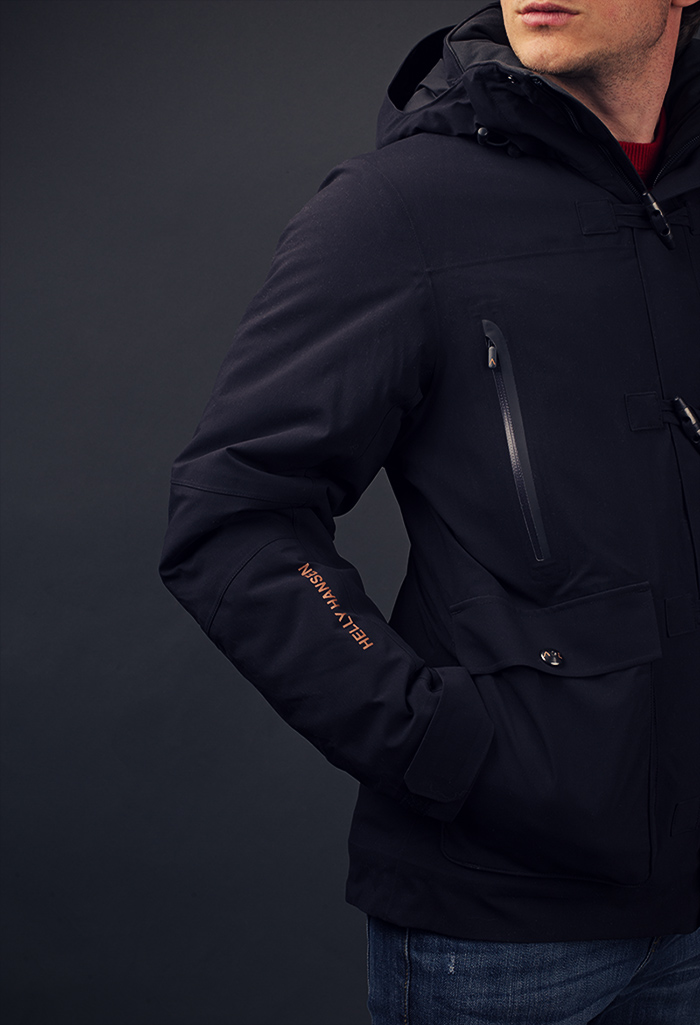 Helly Hansen Ask Duffel Coat front view closeup