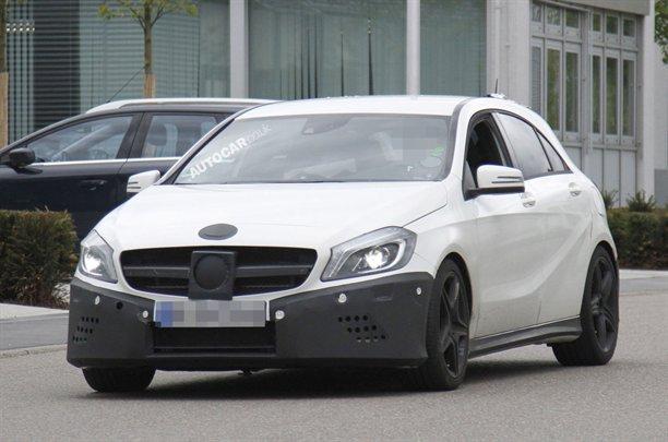 Mercedes A25 AMG Spy Photos front end