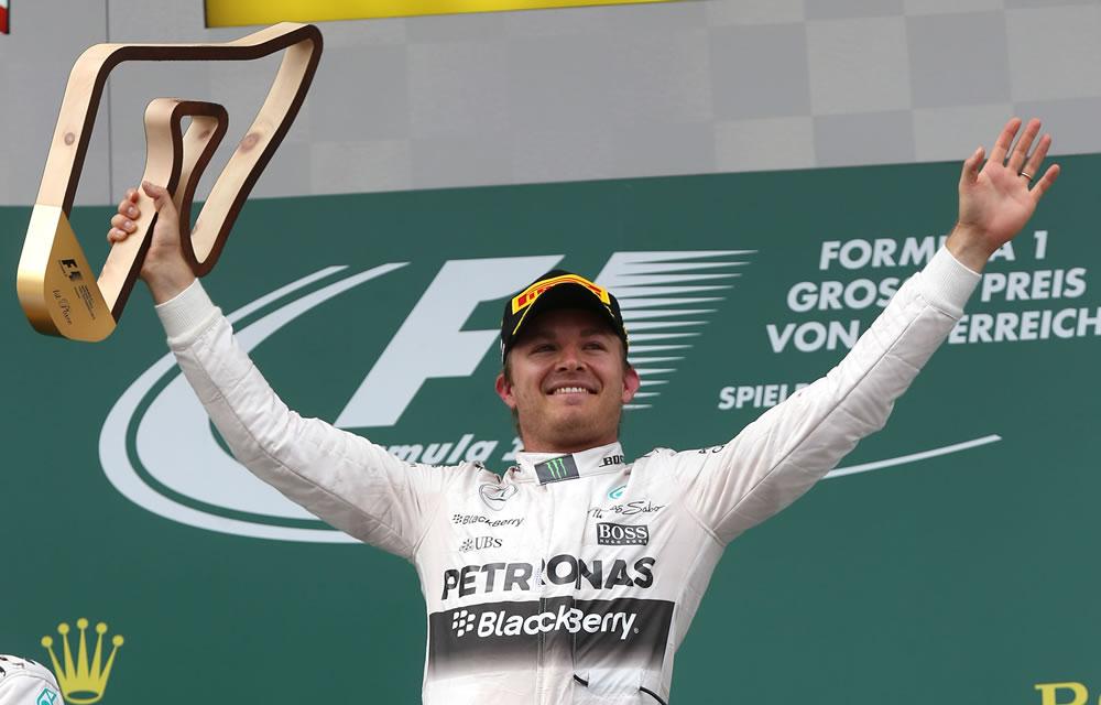 2015 Austrian Gran Prix Race Results