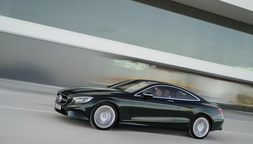 Mercedes-Benz S-Class Coupé, S 500 4MATIC Coupé, paint: emerald green