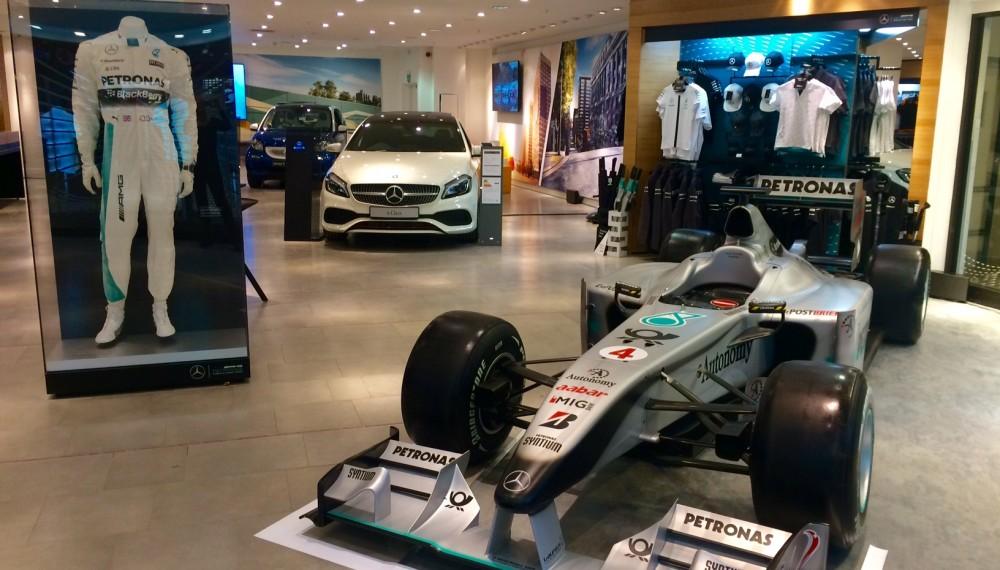 Mercedes-Benz Pop Up Shop in Newcastle