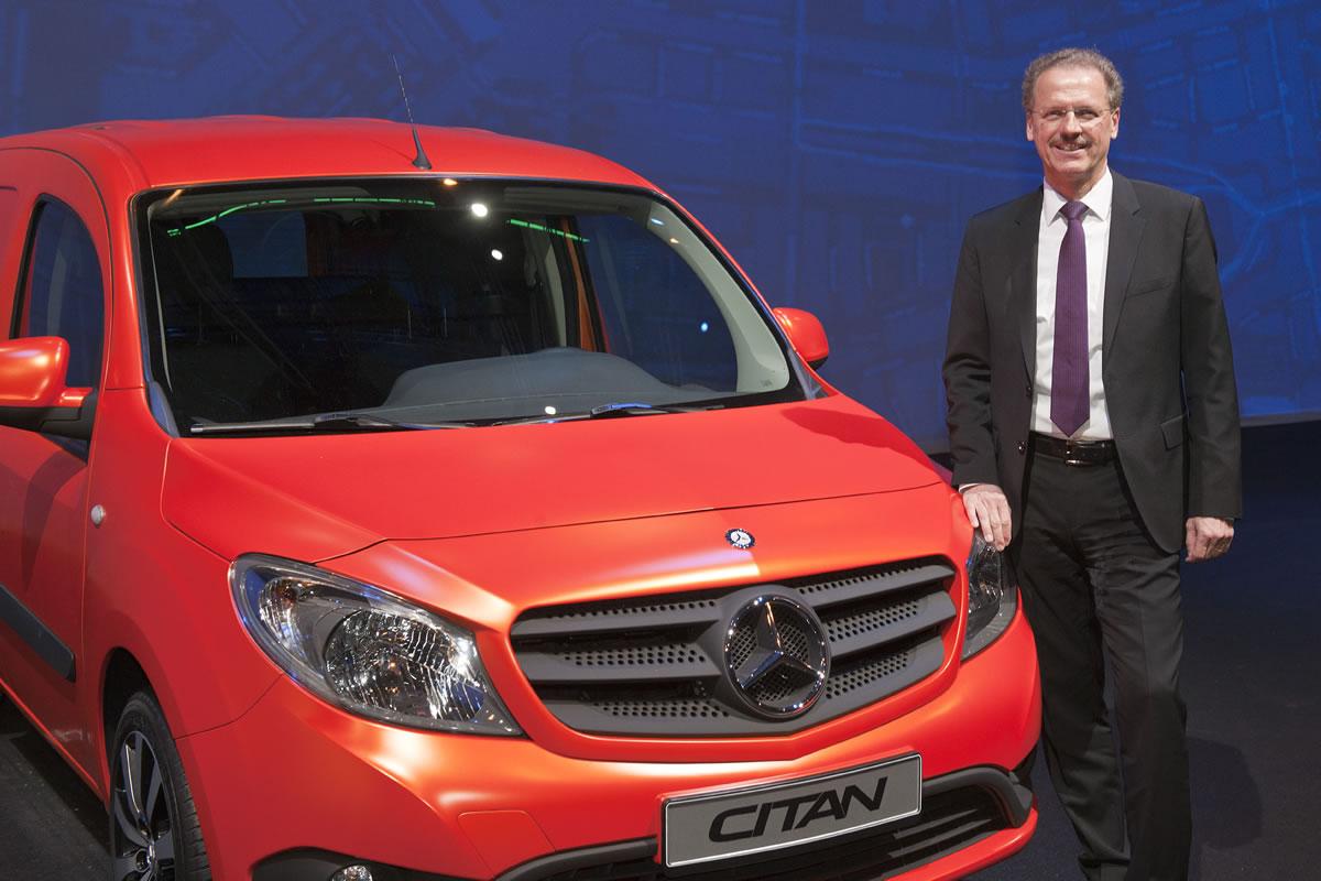 Mercedes-Benz Citan with Volker Mornhinweg, Head of Mercedes-Benz Vans